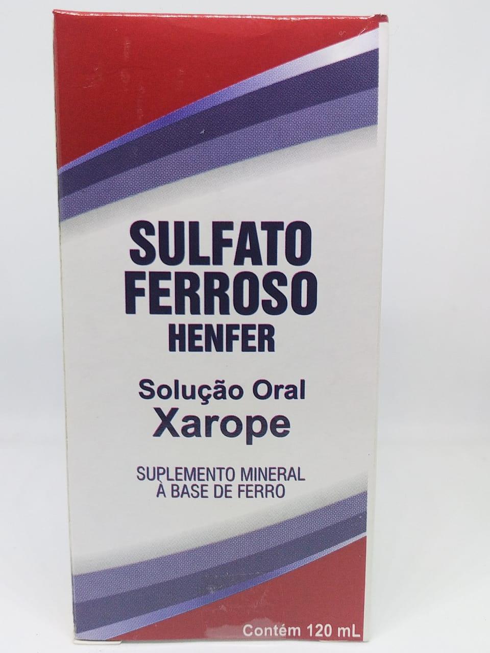 SULFATO FERROSO XAROPE 120ML HENFER