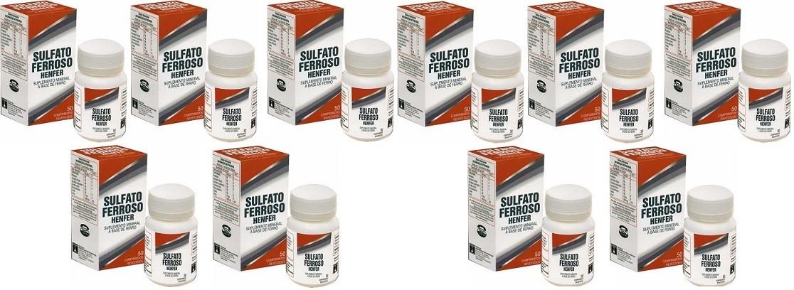 Suplemento Sulfato Ferroso 200mg 50cpr Henfer 10 unidades