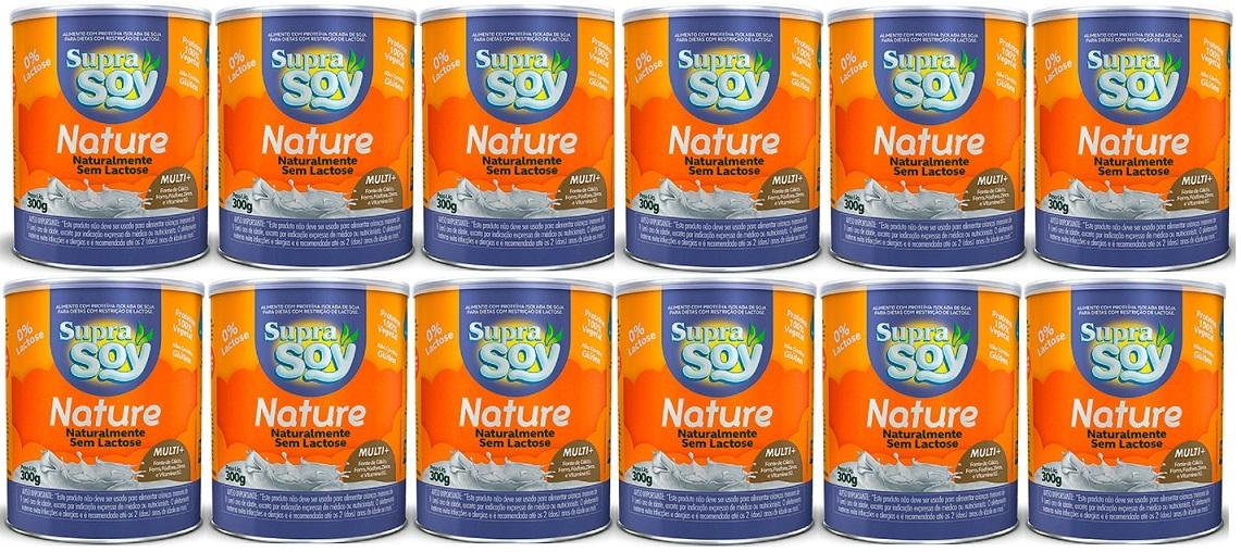 Suprasoy Nature Naturalmente Sem Lactose Suprasoy 12 x 300g