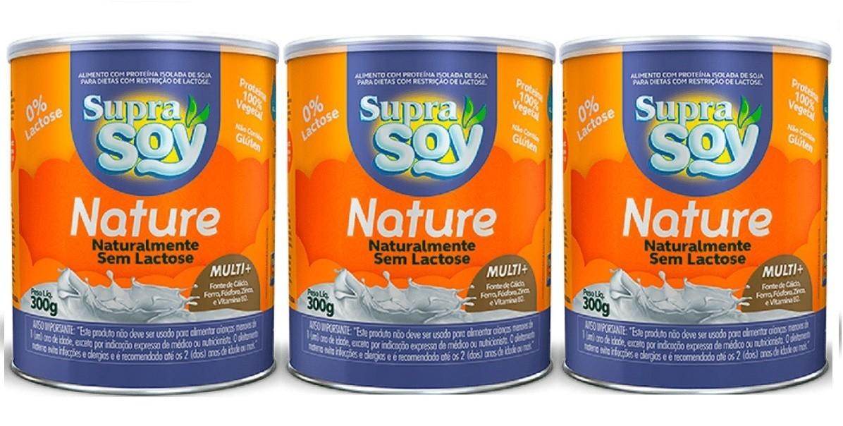 Suprasoy Nature Naturalmente Sem Lactose Suprasoy 3 x 300g