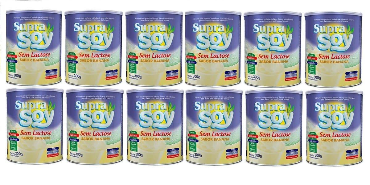 Suprasoy Sem Lactose Banana 12x300g - Supra Soy