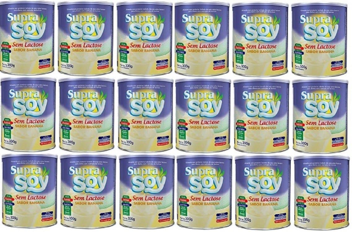 Suprasoy Sem Lactose Banana 18x300g - Supra Soy