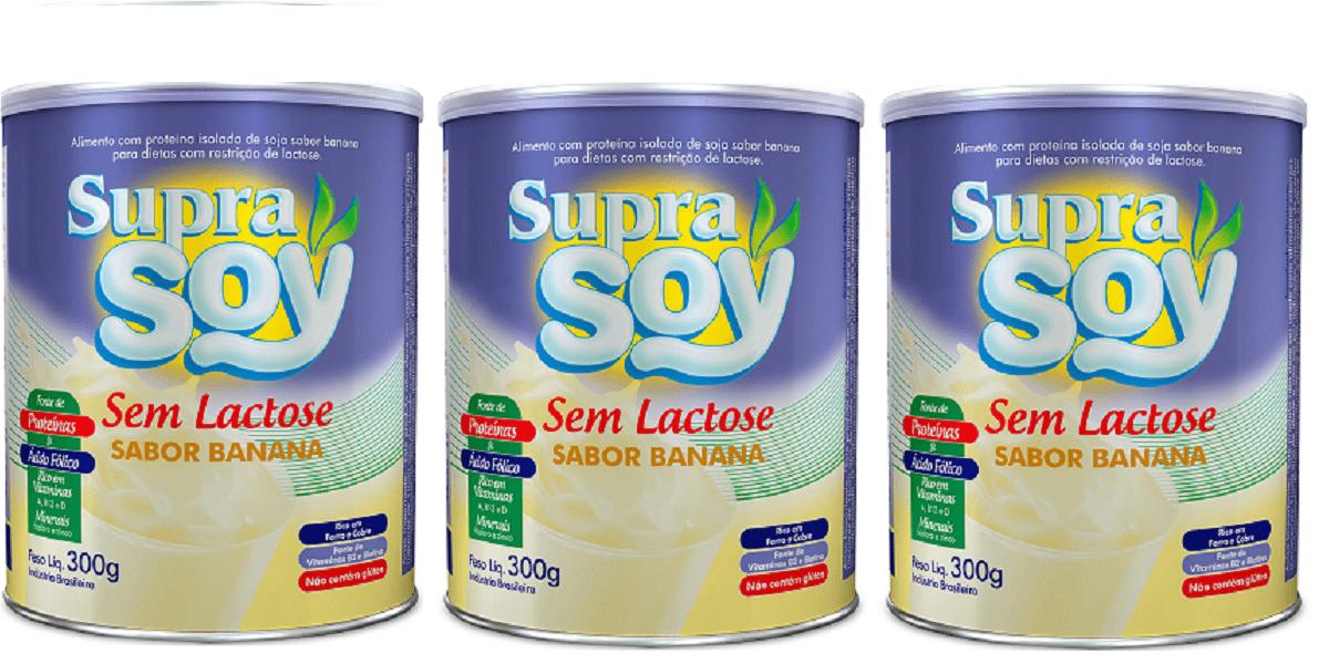 Suprasoy Sem Lactose Banana 3x300g - Supra Soy