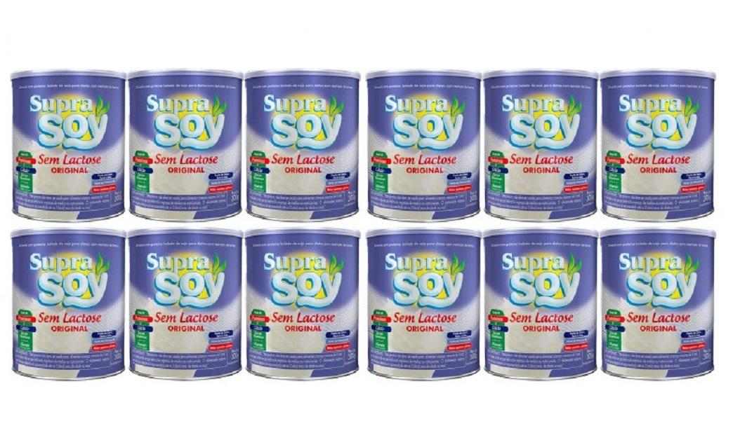Suprasoy Sem Lactose Original Kit 12 x 300g - Suprasoy