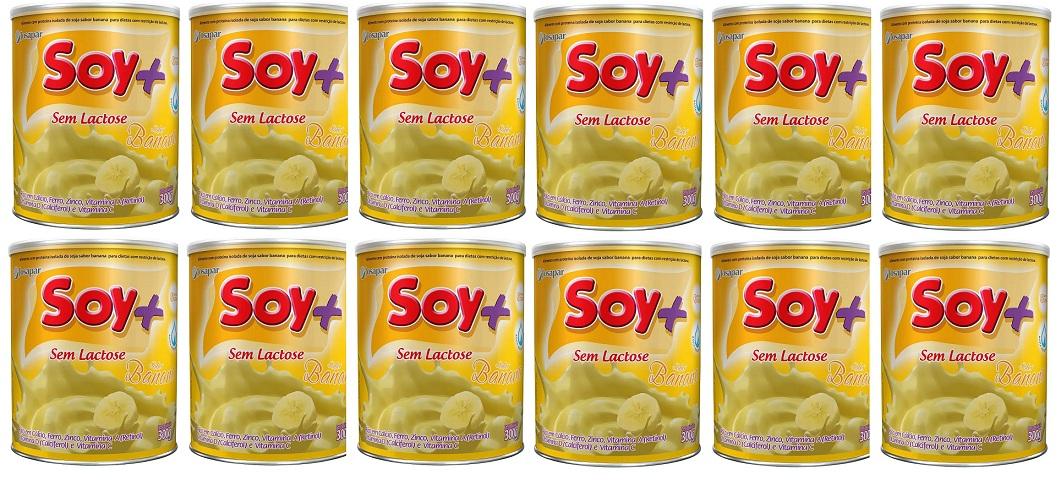 Suprasoy Soy + Banana Sem Lactose 12x300G - Supra Soy