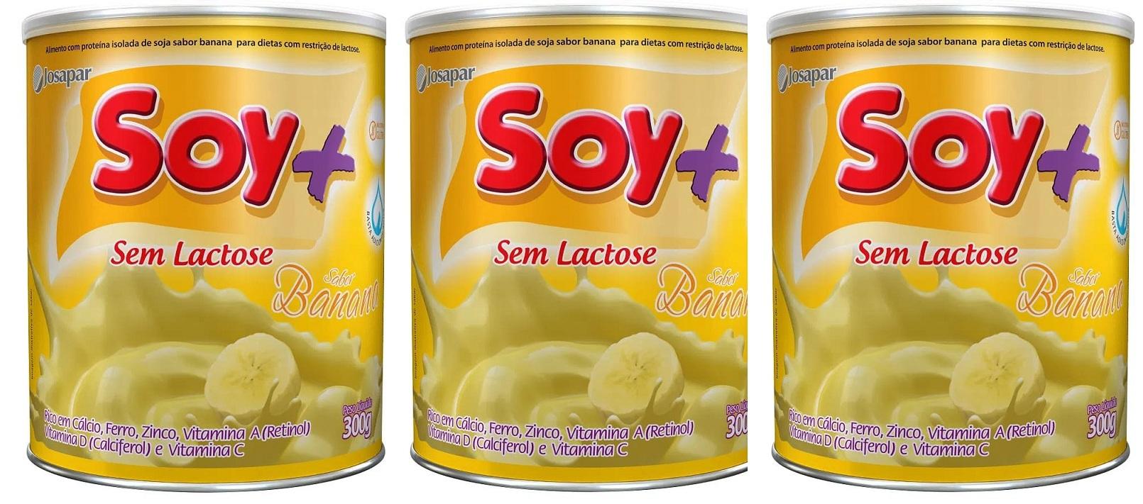 Suprasoy Soy + Banana Sem Lactose 3x300G - Supra Soy