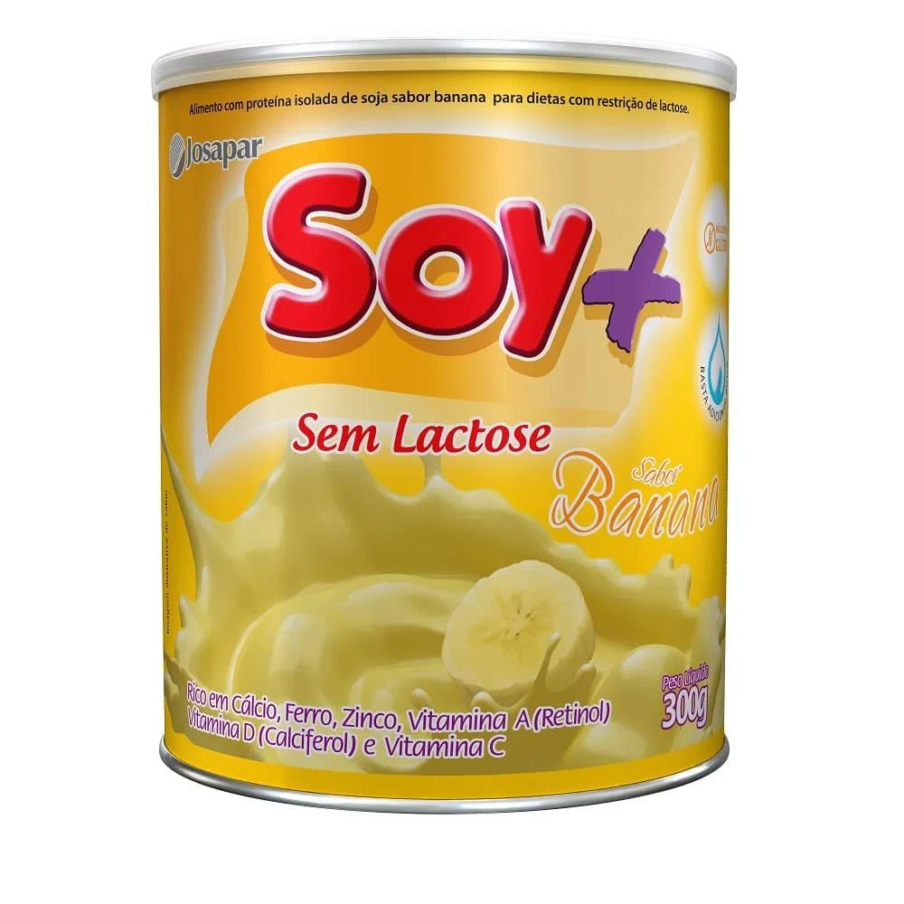 Suprasoy Soy + Banana Sem Lactose 6x300G - Supra Soy