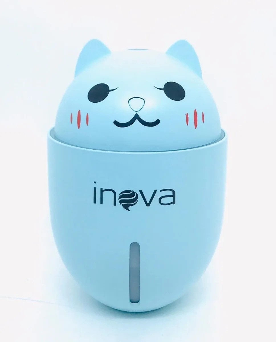 Umidificador Gato USB Recarregável  Ventilador e luz de led