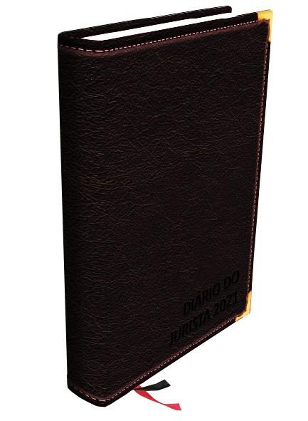 Agenda jurídica 2021 - Diário do jurísta com Agenda eletrônica grátis - preta, marrom e vinho