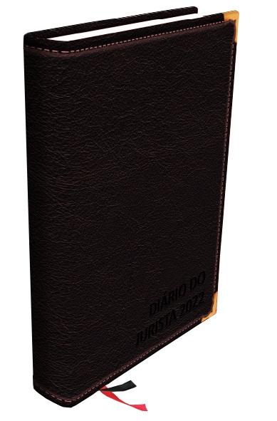 Agenda jurídica 2022 - Diário do jurísta com Agenda eletrônica grátis - preta, marrom e vinho