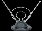 Antena Dupla Com Base Uhf/Vhf/Fm Interna Htuv-201 Preta Hyx
