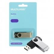 Pen Drive Twist 8GB USB Leitura 10MB/s e Gravação 3MB/s Preto Multilaser- PD587