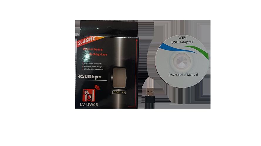 Adaptador Usb Wireless Wi Fi 950mbps 2.4 Ghz