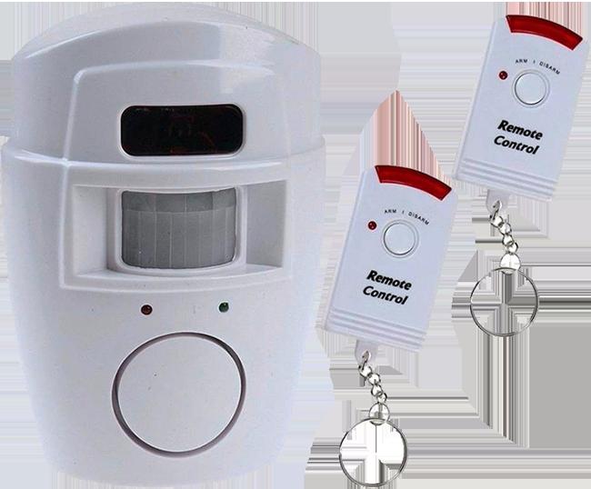 Alarme com sensor de presença