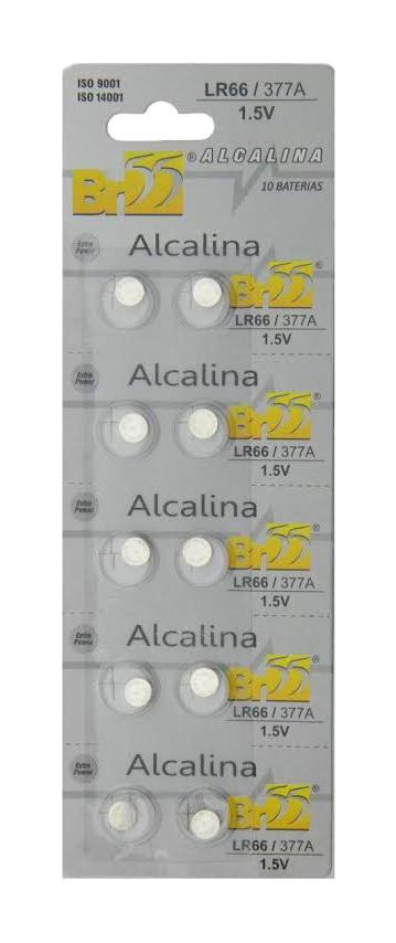 Bateria Botão 377/376 Cart 10 Pçs