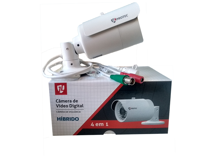 Câmera AHD JL Protec HD 720p 1MP 20m IR JL-AHD3010