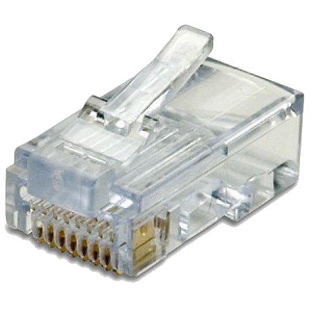 Conector Para Cabo De Rede Cat-5 Pct 100 Unidades