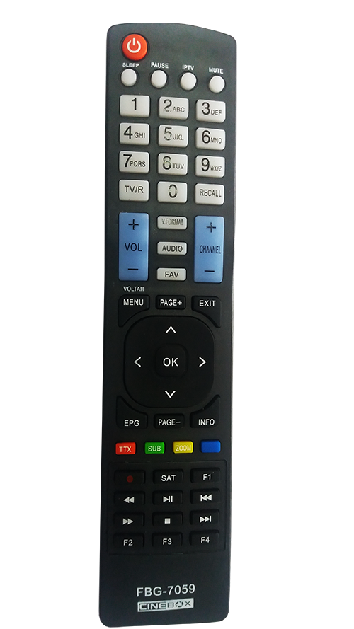 Controle Do Receptor Cinebox 7059