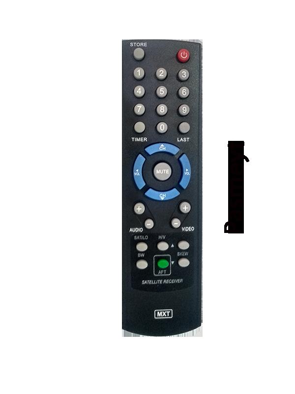 Controle Remoto do Receptor Visiontec Vt 1000 / 2000 / 500 / 300