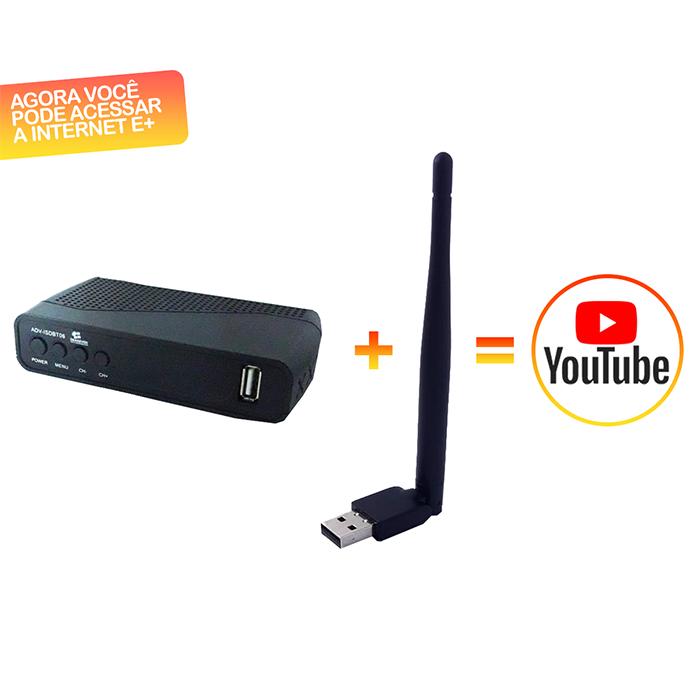 Conversor Digital para TV de Tubo/LCD/LED + Youtube