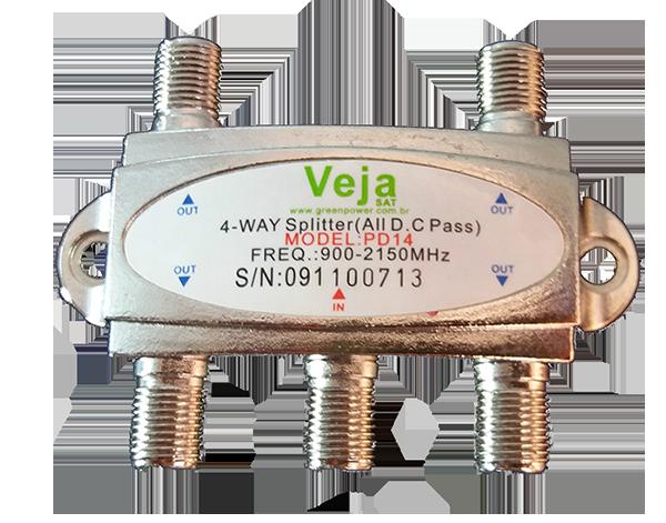 Divisor De 1/4 Satellite Alta Freqüência 900 - 2150 Mhz