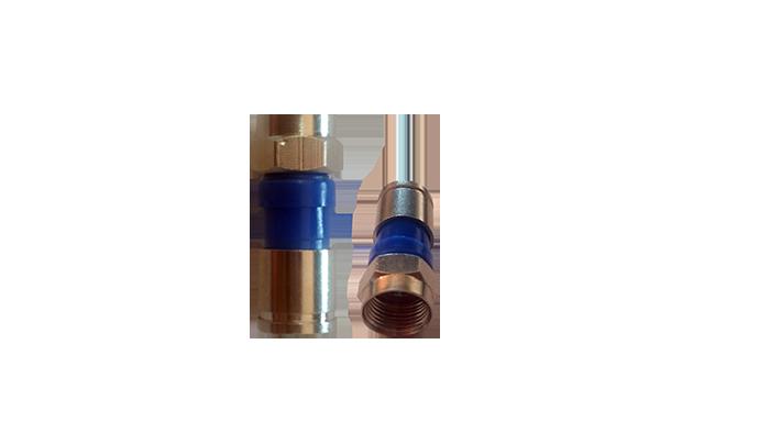 Pacote Com 50 Conectores De Compressão Rg-59