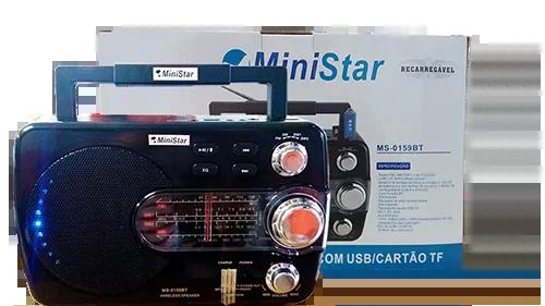 Rádio FM/AM/SW-1 24 Bandas MS-0159BT