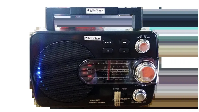 Rádio FM/AM/SW-1 24 Bandas MS-0159BT