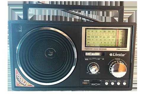 Radio Livstar Cnn-2566ru  - Fm/sw/mw -  Usb / Cartão  Sd
