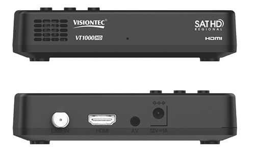 Receptor Digital Sd/hd Vt1000hd Preto Visiontec