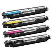 Kit 4 Toner CE310 311 312 313 126A - CP1025 M175 M175A M176 M177 Compativel ce310.1.2.3