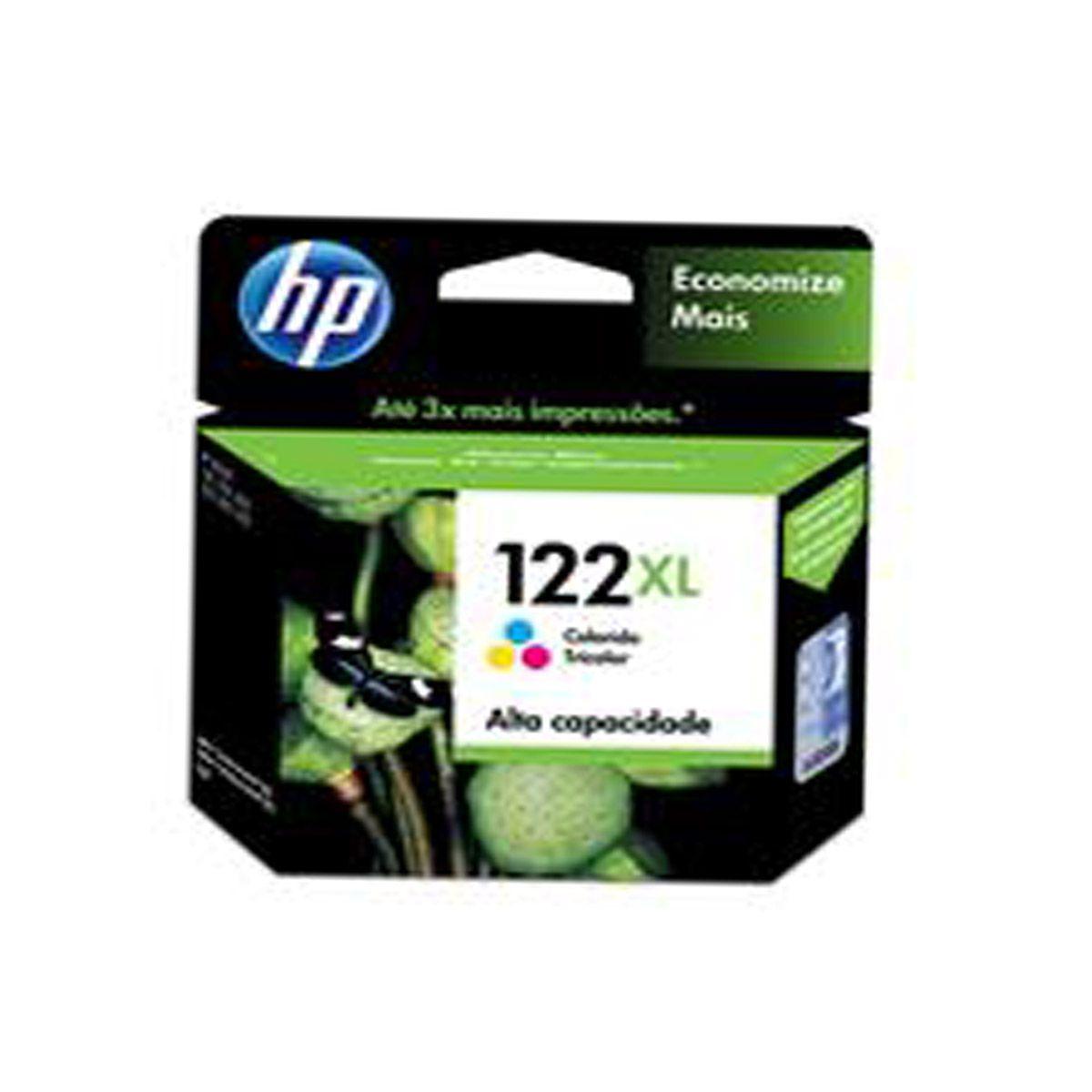 Cartucho HP 122XL Color CH564HB - 7,5ML