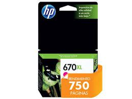 Cartucho HP 670XL Magenta CZ119AB - 8,0ML