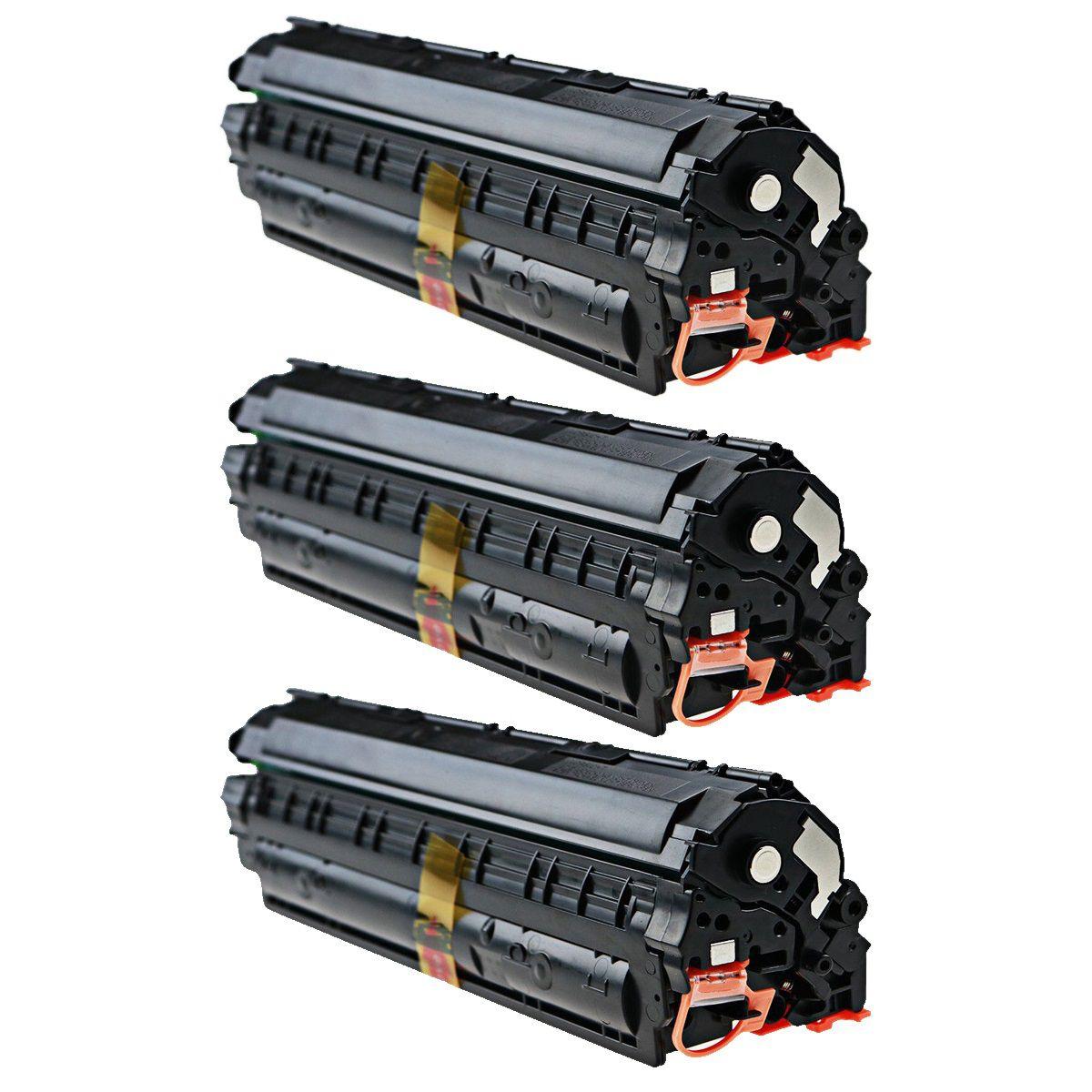 Kit 3 Toner CE285A CE285 285 - P1102 M1212 M1132 1132 1102W P1102W c285x3