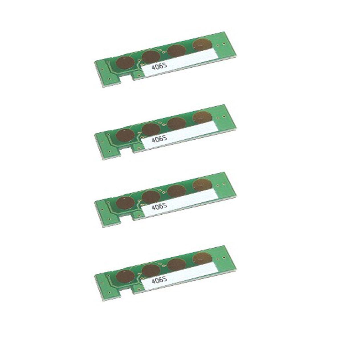Kit 4 Chip Samsung 406 Clp365 Clp360 C460 C410