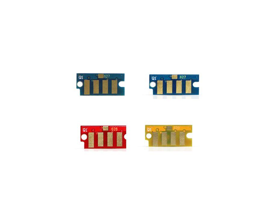 Kit 4 Chip Xerox 6000 6010 WorkCentre 6015 - 106R01631 1632 1633 1634 - Preto, Amarelo, Magenta, Ciano