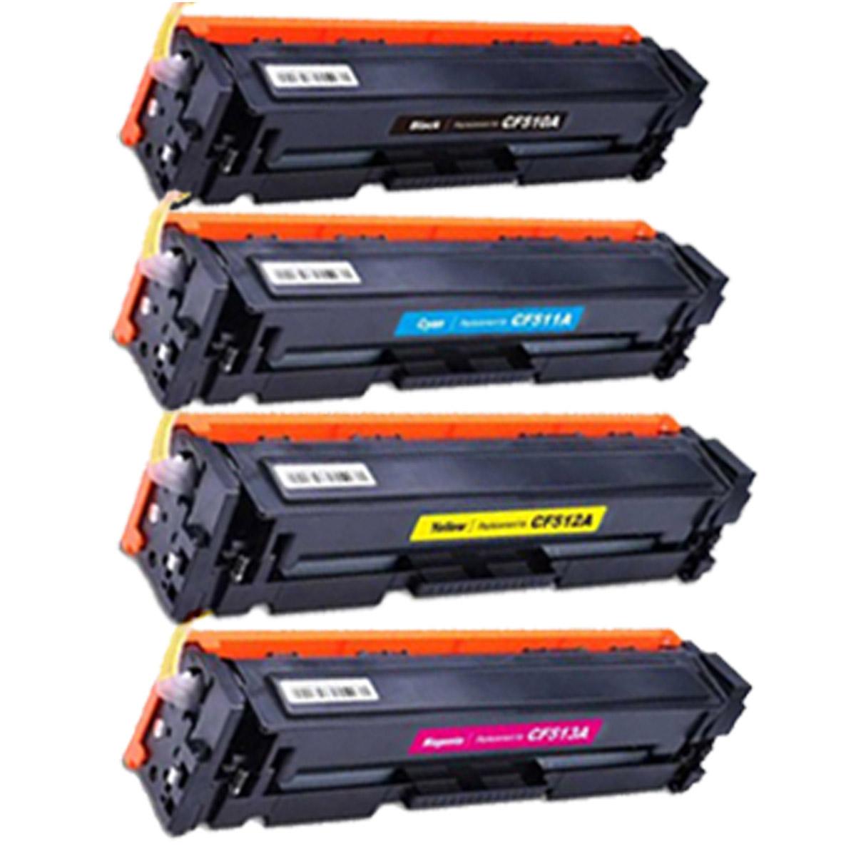 Kit 4 Toner CF510A CF511A CF512 CF513 204A - M180NW M180