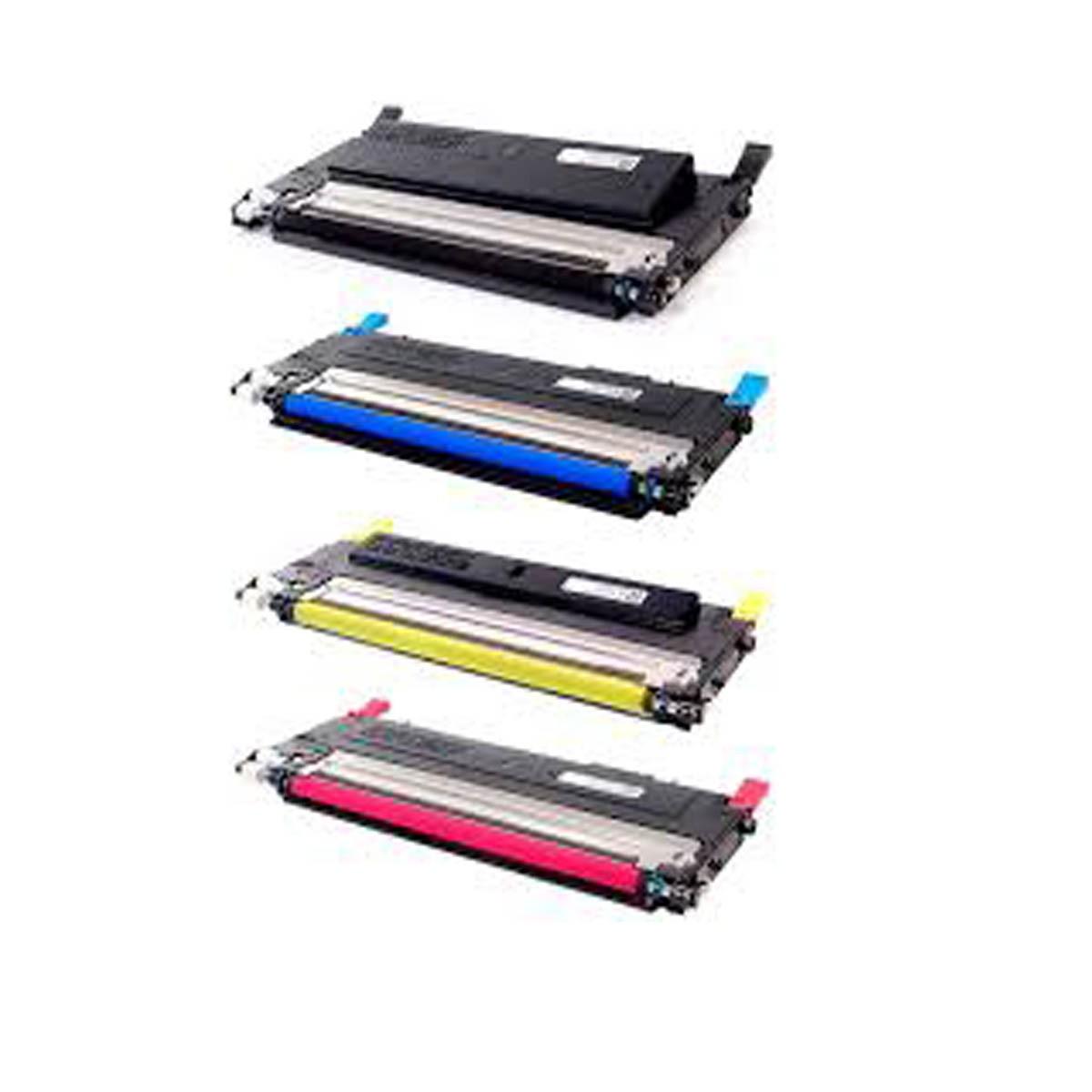 Kit 4 Toner Compatível CLT-407 407S para Samsung CLP-320 CLP-325 CLX-3185 JI-99PV-NYOV