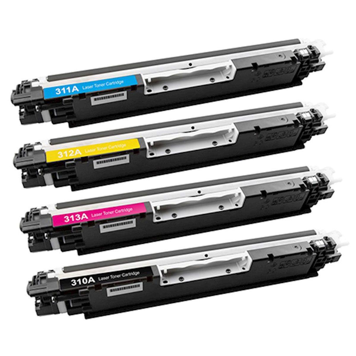 4 Toner CE310 311 312 313 126A - CP1020 CP1025 M175 M175A M176 M177
