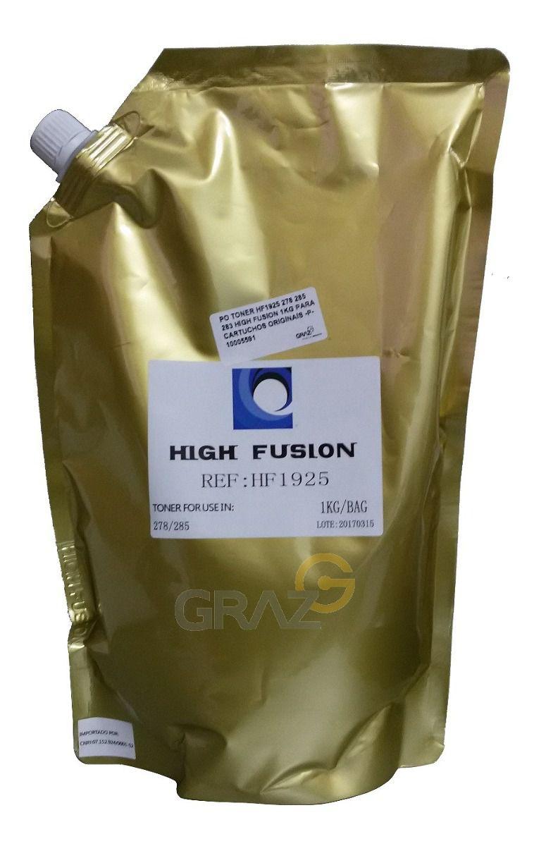 Pó Toner HP High Fusion 2025 - CB435 435 CB436 436 CE285 285 CE278 278 CF283 283 279 - 1 kg