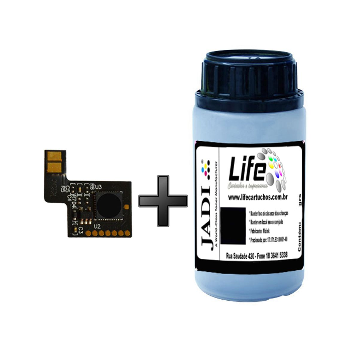 Refil Pó Toner 50G + Chip HP CF400A CF400 Preto - M252DW M277DW M252 M277