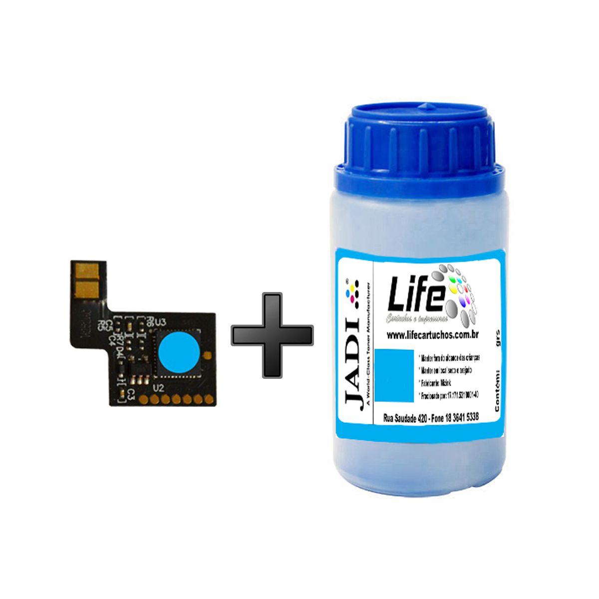 Refil Pó Toner 50G + Chip HP CF401A CF401 Ciano - M252DW M277DW M252 M277
