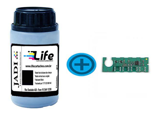 Refil Pó Toner 75G + Chip HP Q6000a - Preto 2600n 2605DN