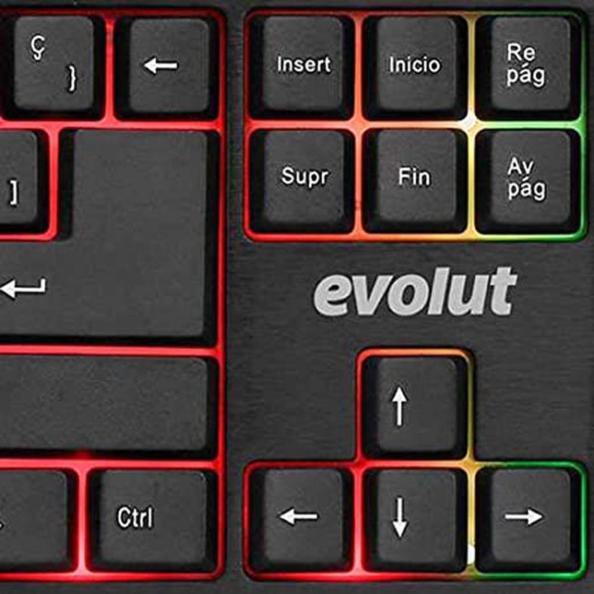 Teclado Gamer EG207 Evolut Ranger Backlight Rainbow
