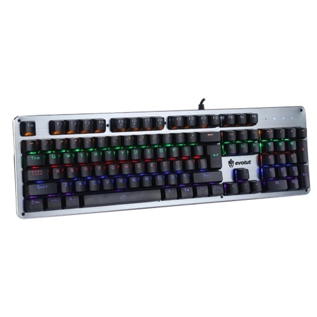 Teclado Mecanico Gamer EG208 Evolut Blacsmith Switch Blue