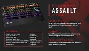 Teclado Mecanico Gamer EG-204 ASSAULT