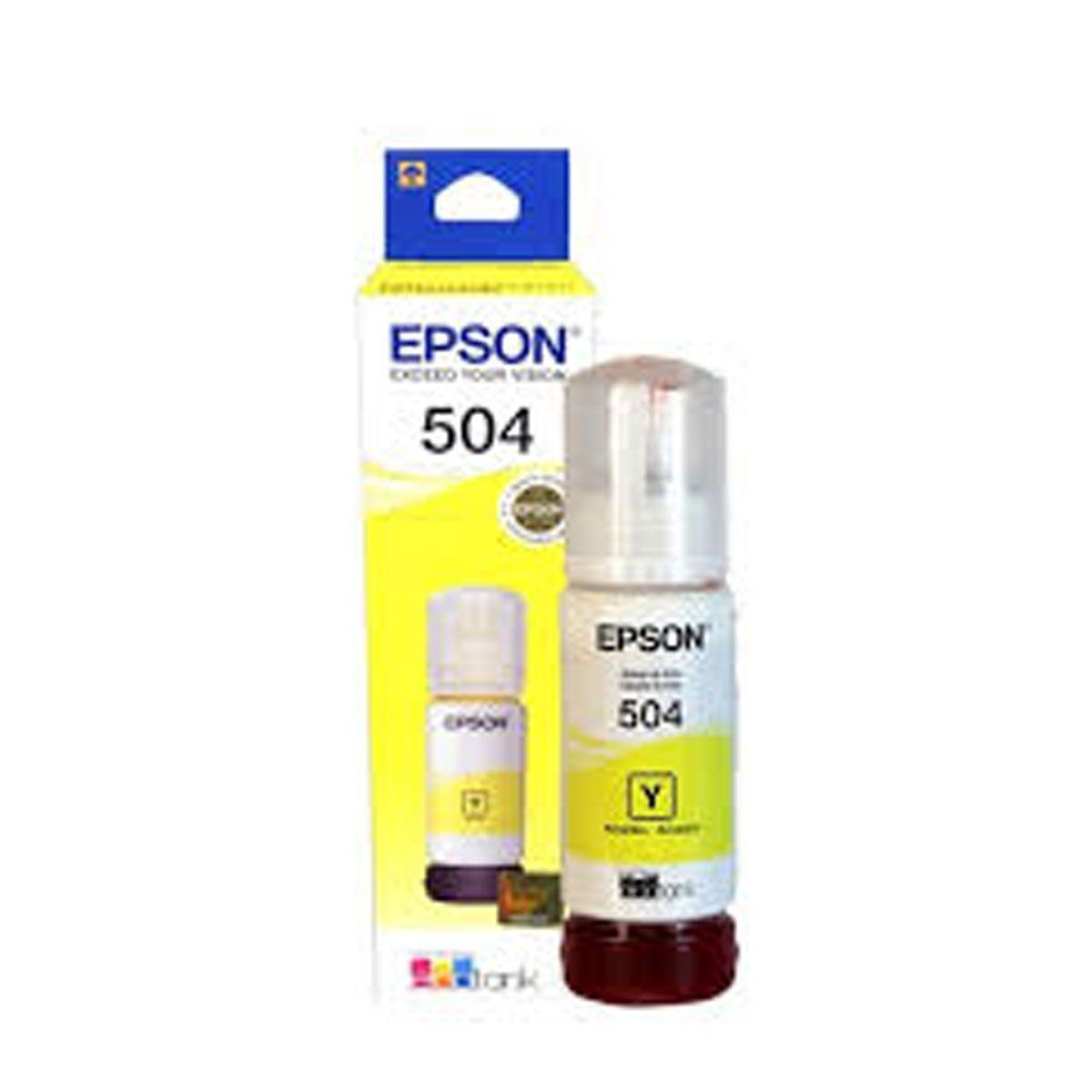 Tinta Epson Original Amarela T504420 - L4150 L4160 L6191 L6161 L6171 - 70ml
