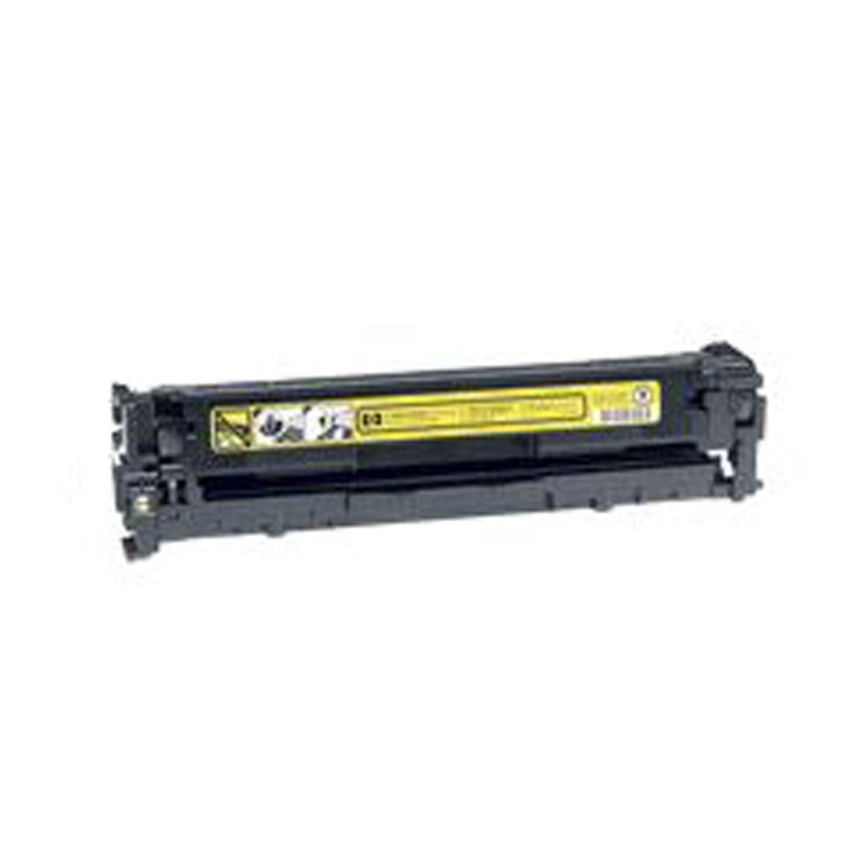 Toner Compativel com HP CB542A CB542 542 - 125A - Amarelo - CP1215 CP1510 CP1515 CP1518 CM1312 - 1,4K