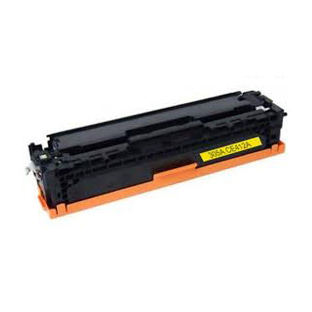 Toner CE412A CE-412A 412A 305A Amarelo - M451DN M451NW M475DW M375NW