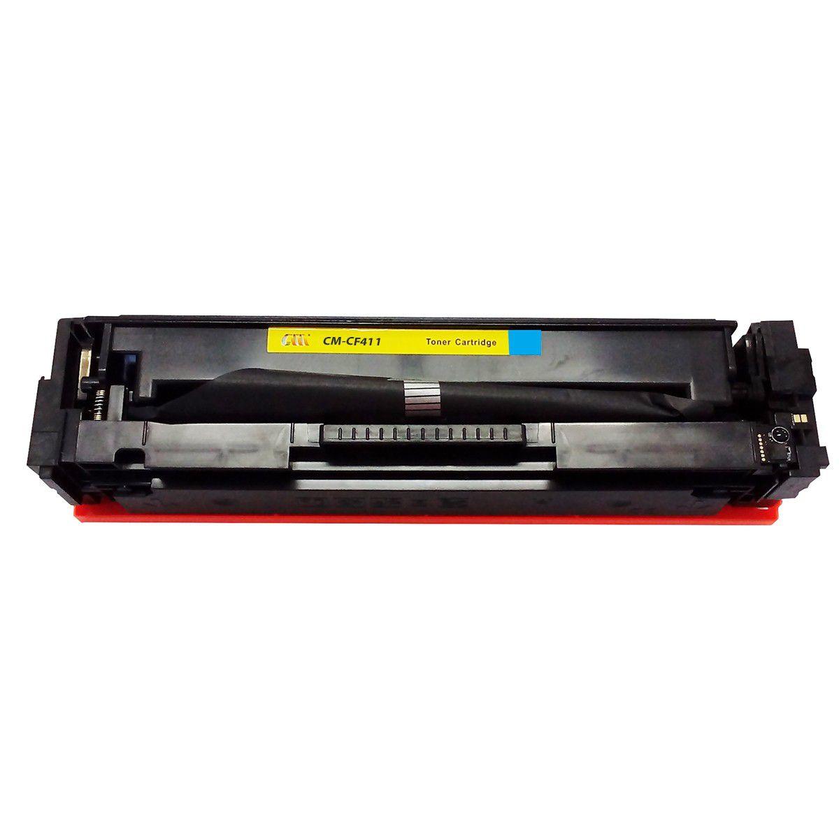 Toner Compatível com HP CF411A CF411 411a Ciano - M452DW M452DN M477 M477FDN